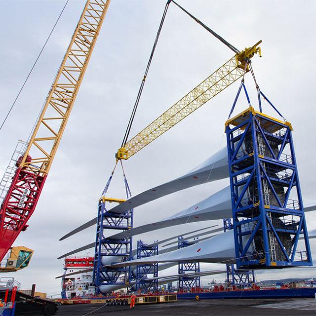 MHI Vestas moves into Able Seaton Port ahead of wind turbine installation